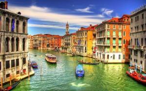 Coucher du soleil à Venise