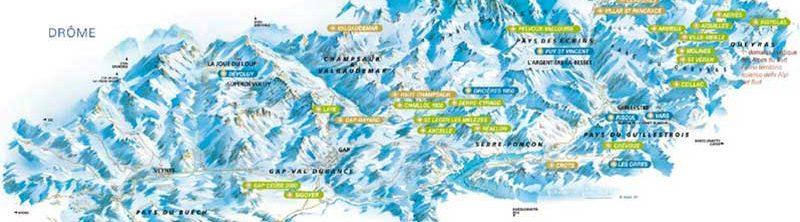 Carte des Alpes du Nord